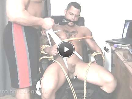 straight guys in bondage video